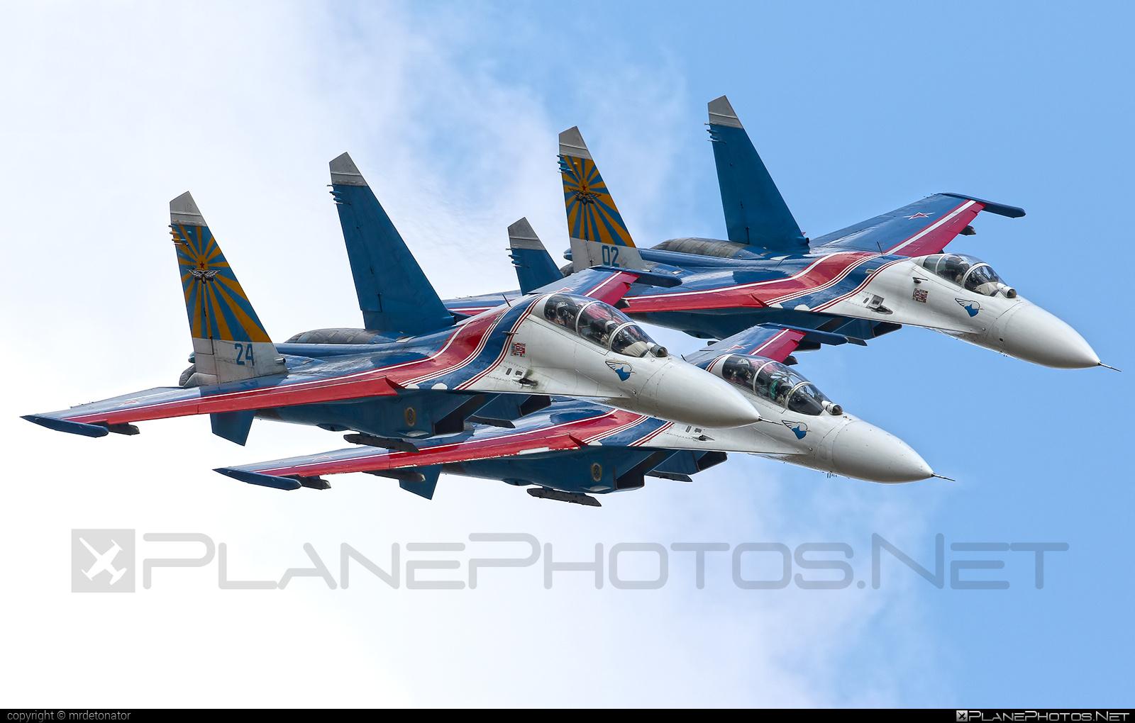 Sukhoi Su-27UB - 24 operated by Voyenno-vozdushnye sily Rossii (Russian Air Force) #maks2015 #russianknights #su27 #su27ub #sukhoi #sukhoi27