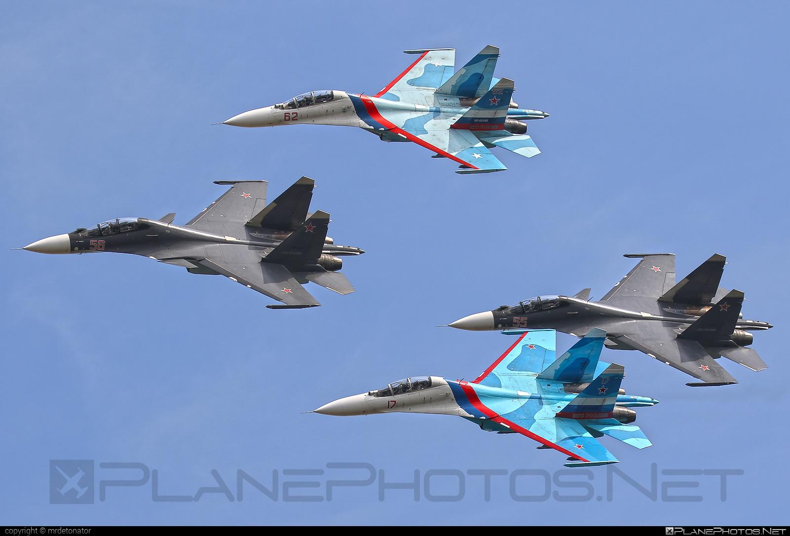 Sukhoi Su-30SM - 56 operated by Voyenno-vozdushnye sily Rossii (Russian Air Force) #maks2015 #sukhoi