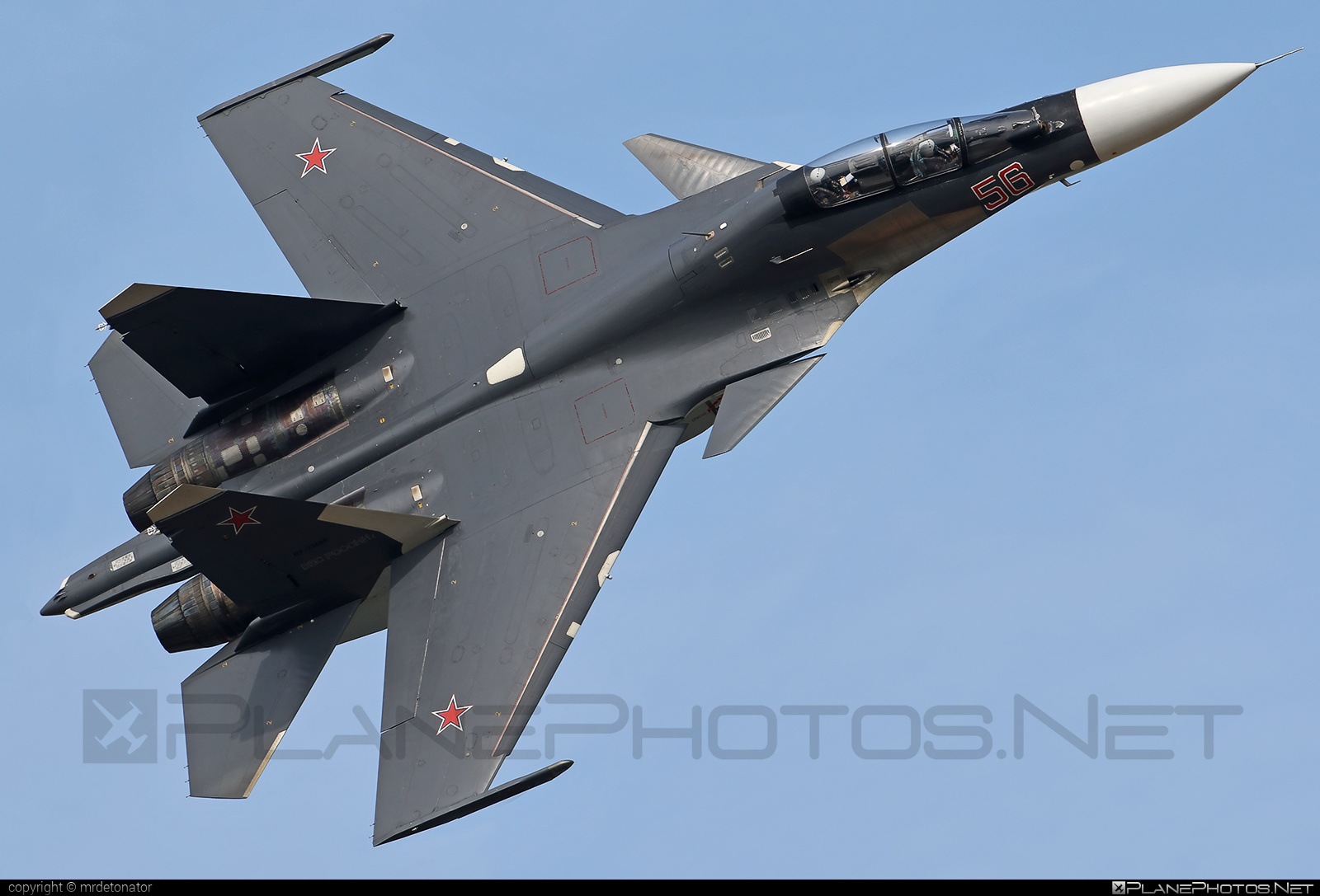Sukhoi Su-30SM - 56 operated by Voyenno-vozdushnye sily Rossii (Russian Air Force) #maks2015 #sukhoi