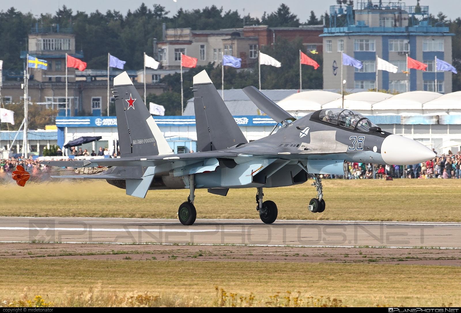 Sukhoi Su-30SM - 38 operated by Voyenno-vozdushnye sily Rossii (Russian Air Force) #sukhoi