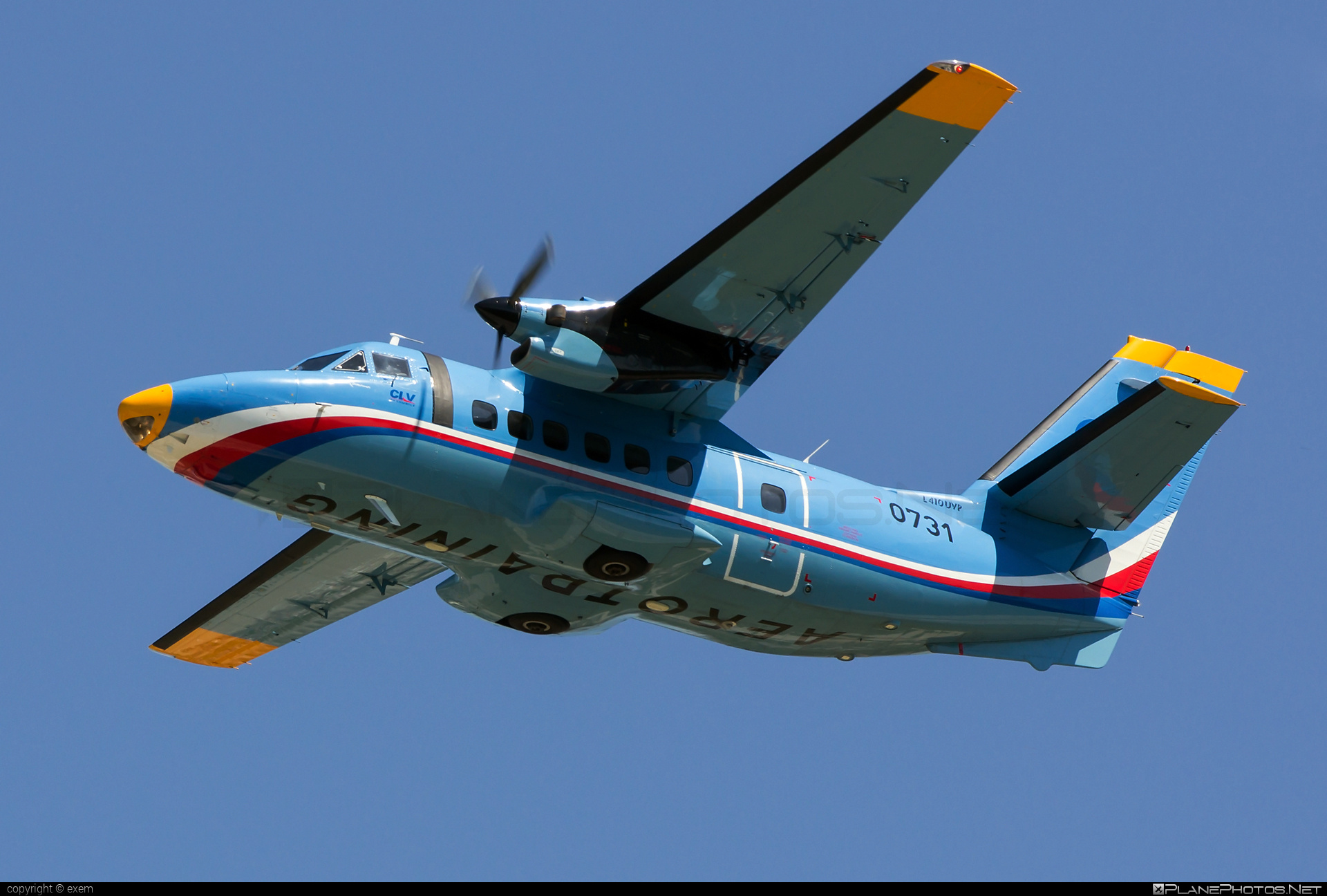 Let L-410UVP Turbolet - 0731 operated by Centrum leteckého výcviku (Flight Training Center) #let