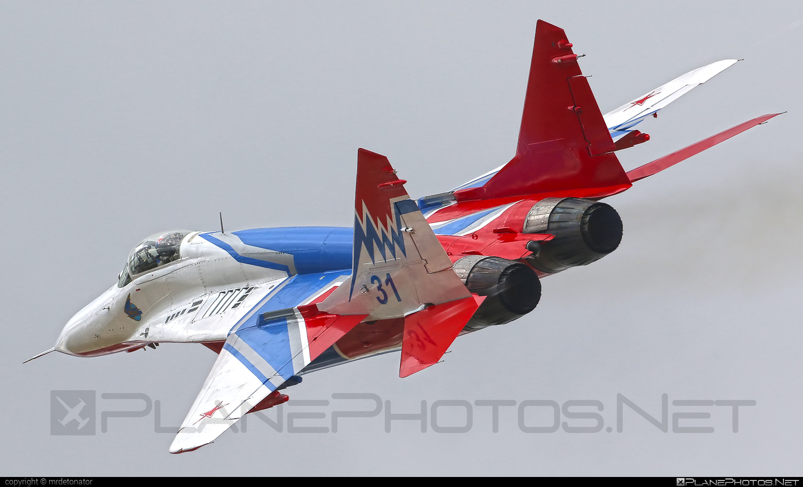 Mikoyan-Gurevich MiG-29 - 31 operated by Voyenno-vozdushnye sily Rossii (Russian Air Force) #mig #mig29 #mikoyangurevich