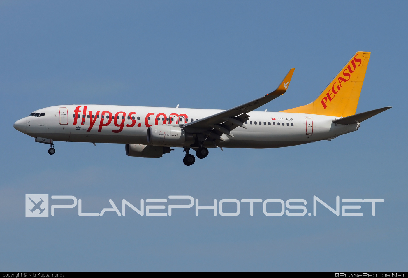 Boeing 737-800 - TC-AJP operated by Pegasus Airlines #b737 #b737nextgen #b737ng #boeing #boeing737