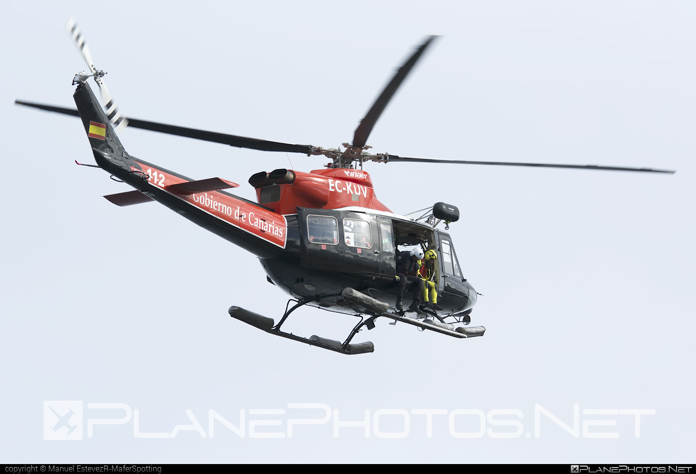 Agusta Bell AB-412 Grifone - EC-KUV operated by Inaer #agustabell
