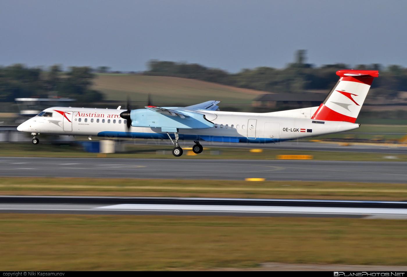 Bombardier DHC-8-Q402 Dash 8 - OE-LGK operated by Austrian arrows (Tyrolean Airways) #bombardier #dash8 #dhc8 #dhc8q402