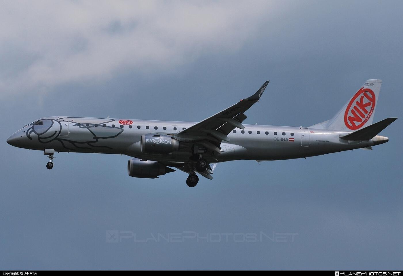 Embraer E190LR (ERJ-190-100LR) - OE-IHA operated by Niki #e190 #e190100 #e190100lr #e190lr #embraer #embraer190 #embraer190100lr #embraer190lr #flyniki #niki