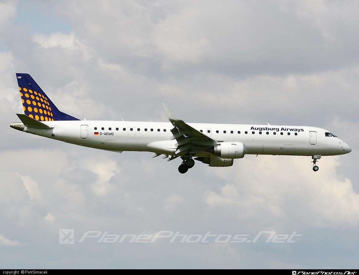 Embraer E195LR (ERJ-190-200LR) - D-AEMD operated by Augsburg Airways #e190 #e190200 #e190200lr #e195lr #embraer #embraer190200lr #embraer195 #embraer195lr
