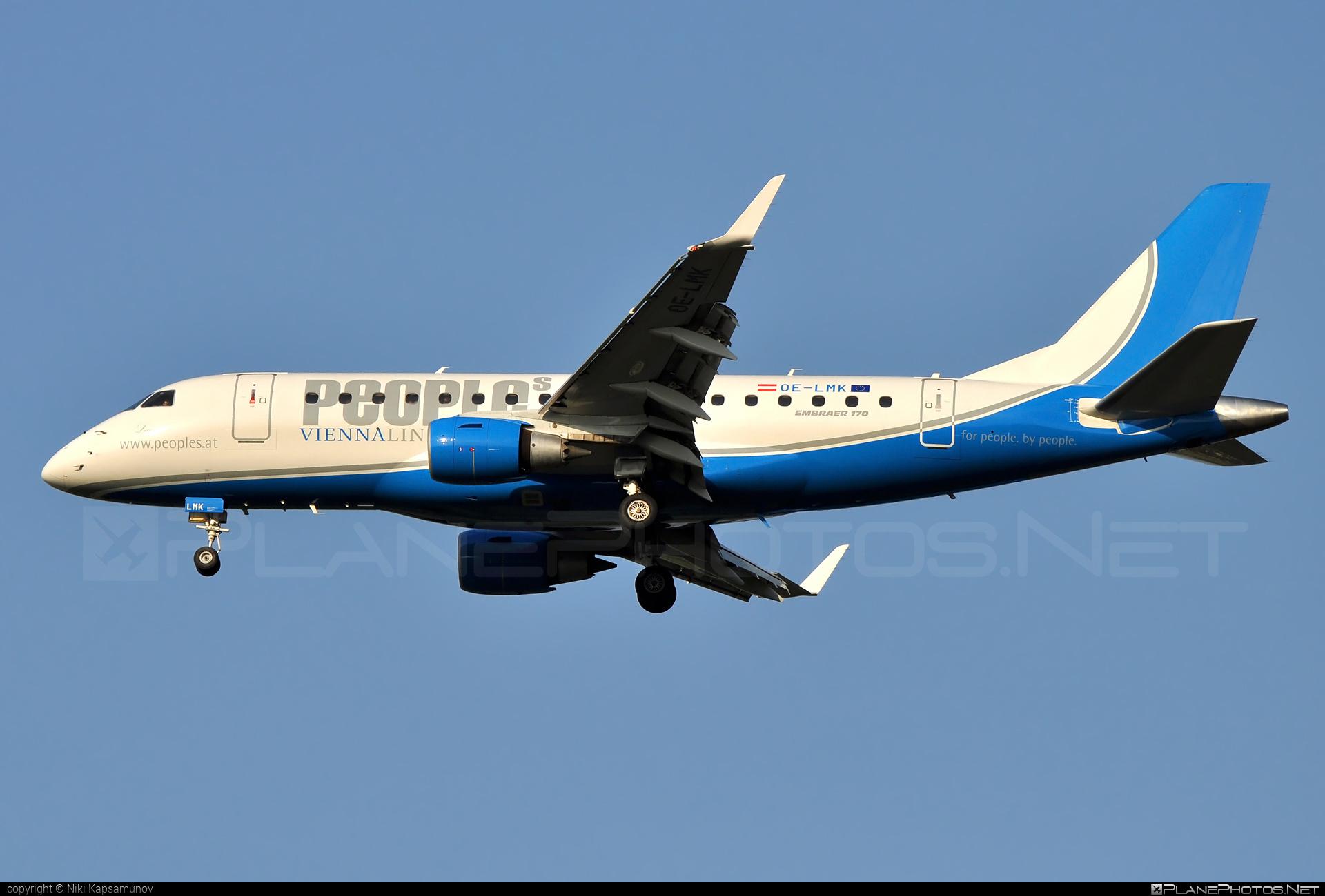 Embraer E170LR (ERJ-170-100LR) - OE-LMK operated by People`s Viennaline #e170 #embraer #embraer170 #embraer170lr #erj170 #erj170100 #erj170100lr #erj170lr