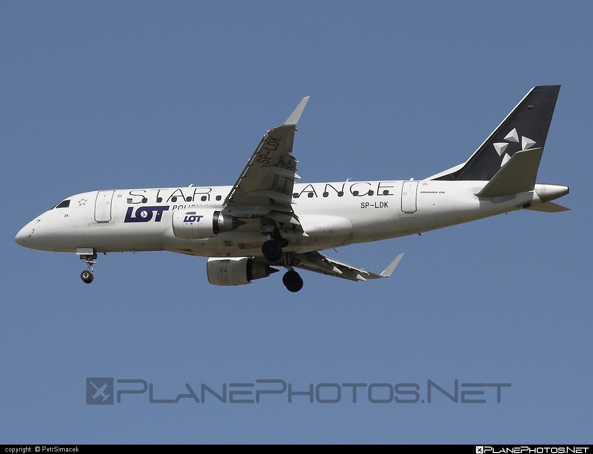 Embraer E170LR (ERJ-170-100LR) - SP-LDK operated by LOT Polish Airlines #e170 #embraer #embraer170 #embraer170lr #erj170 #erj170100 #erj170100lr #erj170lr #lot #lotpolishairlines #staralliance