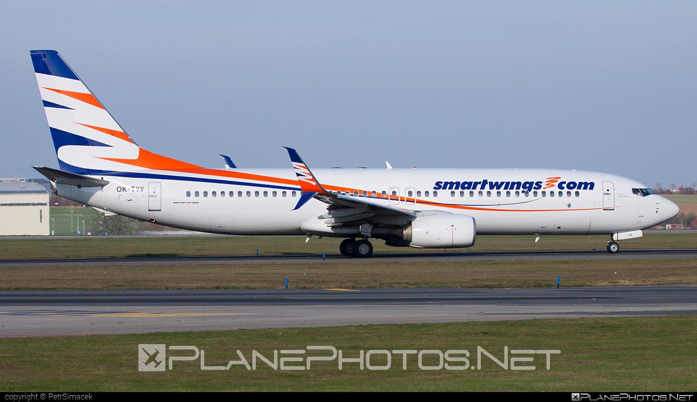 Boeing 737-800 - OK-TVV operated by Smart Wings #b737 #b737nextgen #b737ng #boeing #boeing737 #smartwings