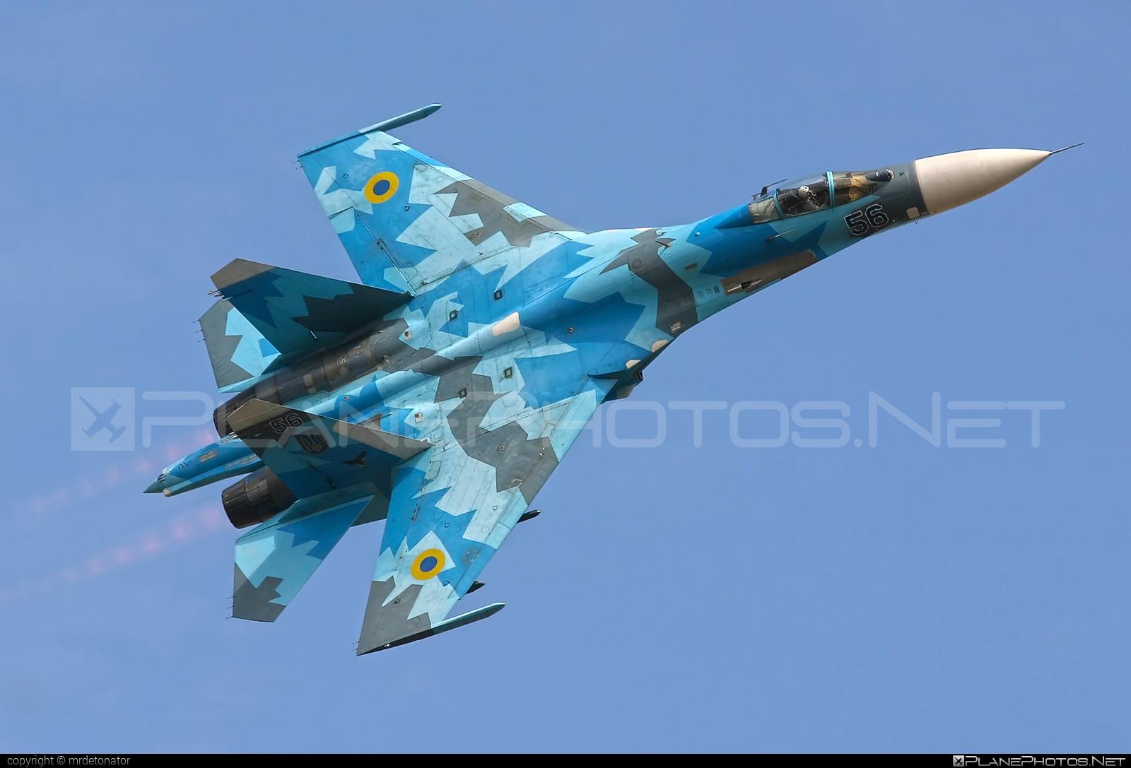Sukhoi Su-27S - 56 operated by Povitryani Syly Ukrayiny (Ukrainian Air Force) #povitryanisylyukrayiny #su27 #su27s #sukhoi #sukhoi27 #ukrainianairforce