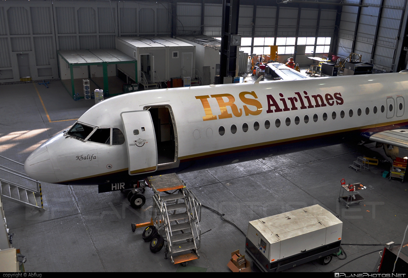 Fokker 100 - 5N-HIR operated by IRS Airlines #fokker