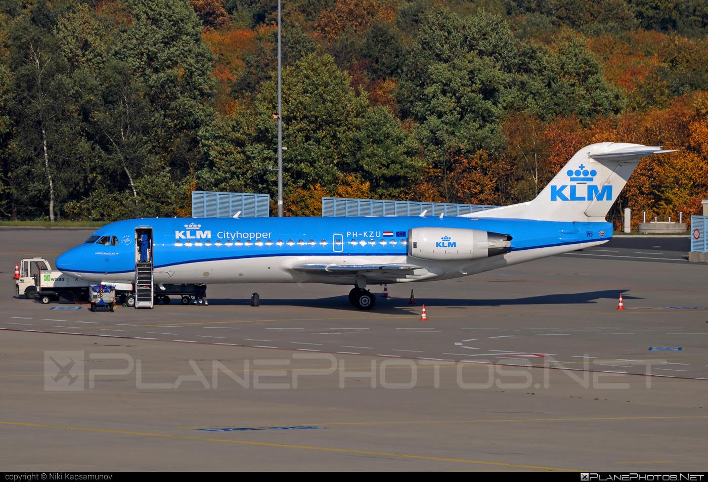 Fokker 70 - PH-KZU operated by KLM Cityhopper #fokker #klm #klmcityhopper