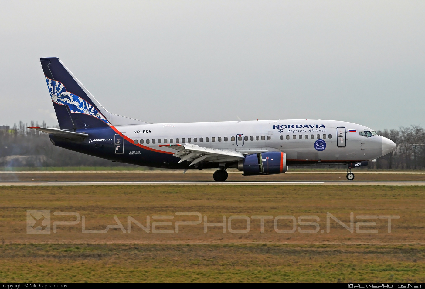 Boeing 737-500 - VP-BKV operated by Nordavia – Regional Airlines #b737 #boeing #boeing737