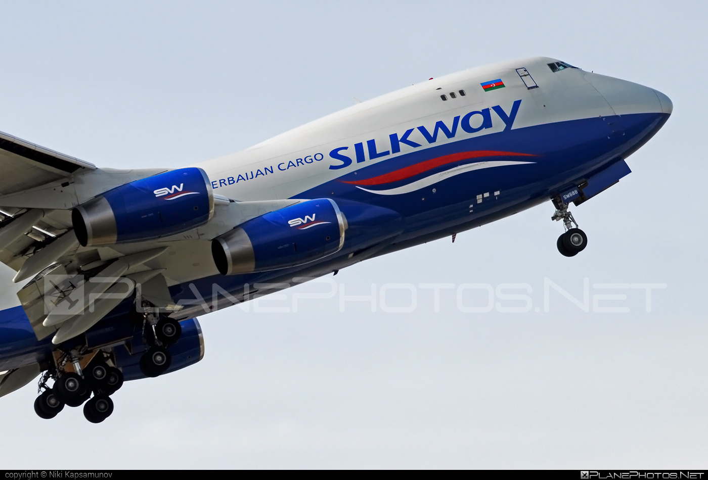 Boeing 747-400F - 4K-SW888 operated by Silk Way West Airlines #b747 #boeing #boeing747 #jumbo #silkwayairlines #silkwaywestairlines