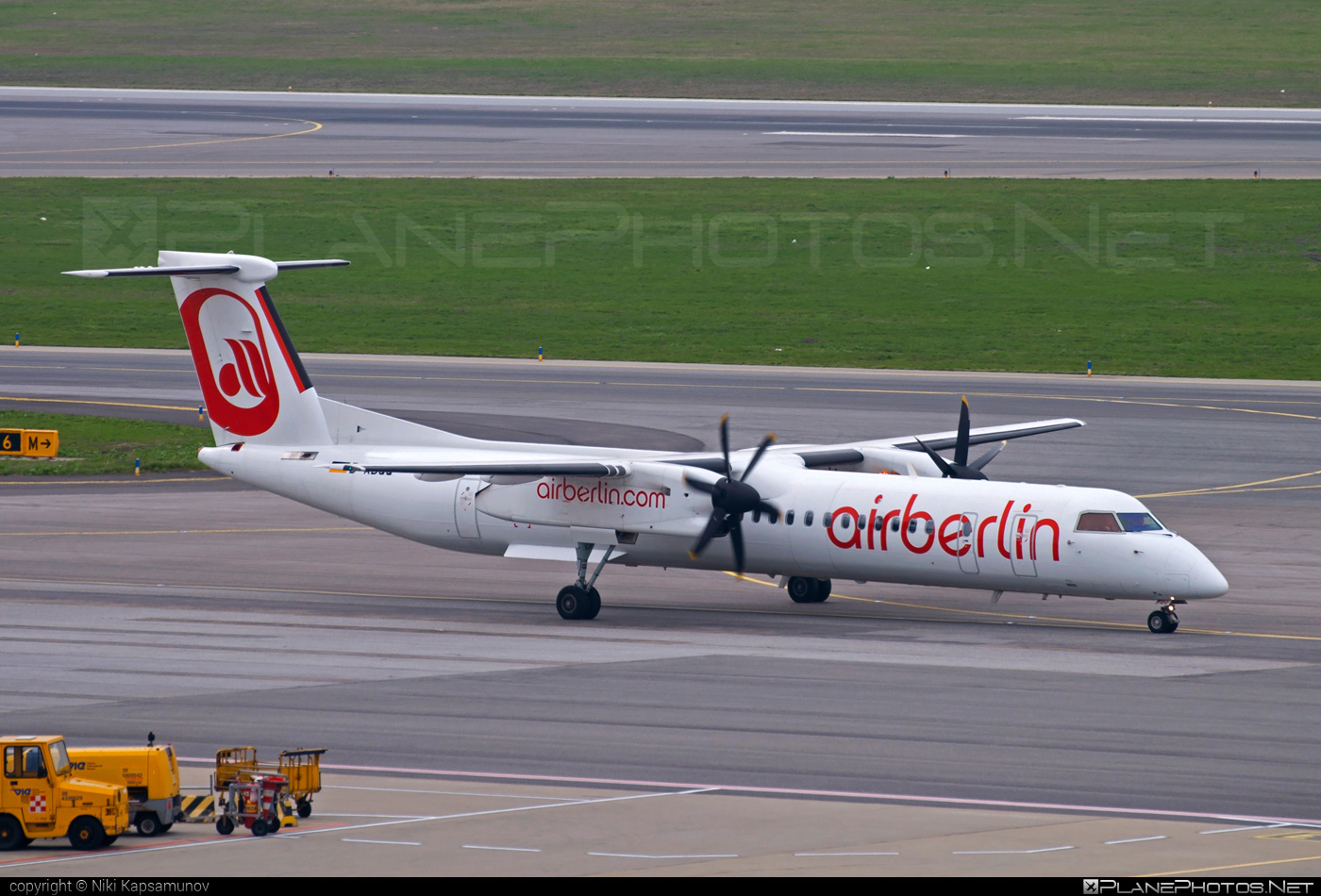 Bombardier DHC-8-Q402 Dash 8 - D-ABQQ operated by Air Berlin #airberlin #bombardier
