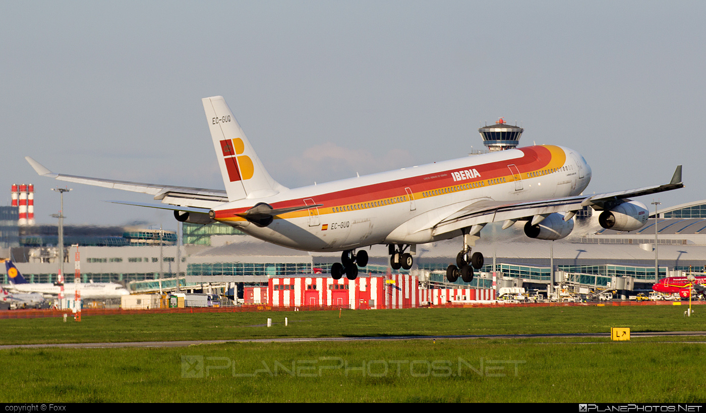 Airbus A340-313 - EC-GUQ operated by Iberia #a340 #a340family #airbus #airbus340 #iberia