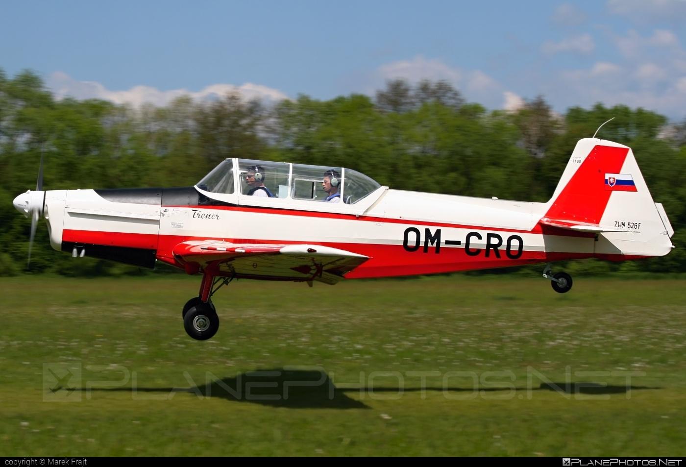 Zlin Z-526F Trenér Master - OM-CRO operated by Slovenský národný aeroklub (Slovak National Aeroclub) #trenermaster #z526 #z526trenermaster #zlin #zlin526