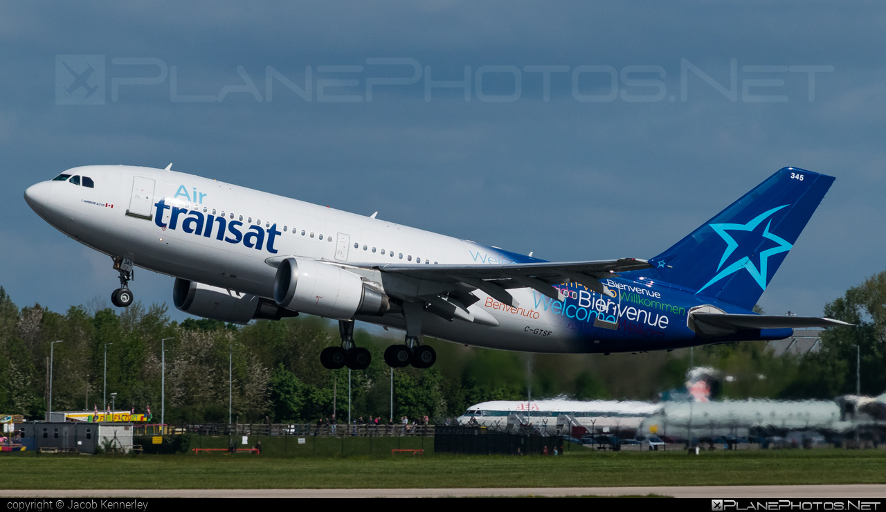 Airbus A310-304 - C-GTSF operated by Air Transat #a310 #airbus