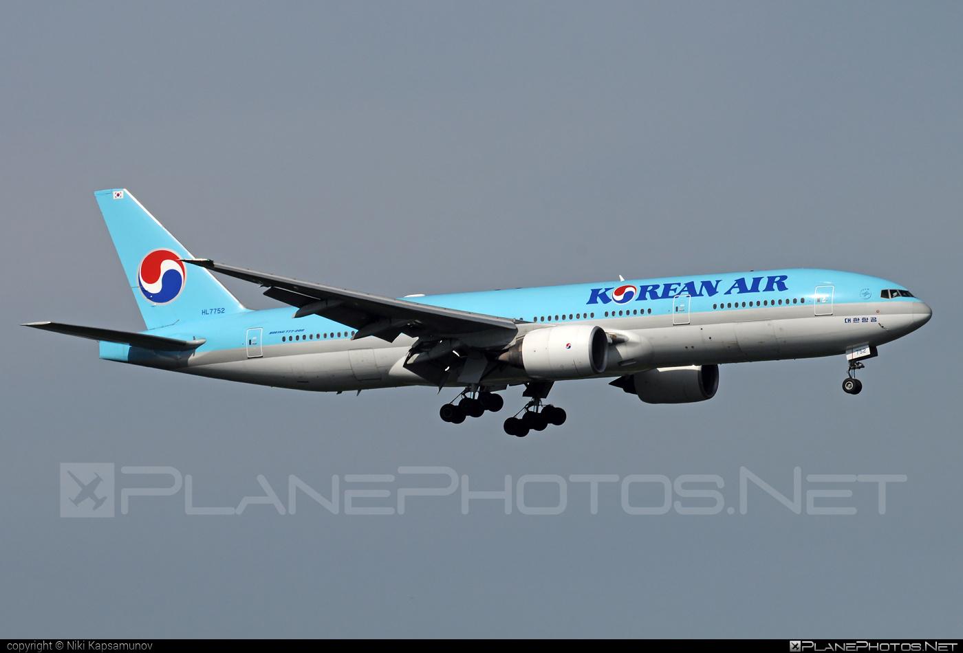 Boeing 777-200ER - HL7752 operated by Korean Air #b777 #b777er #boeing #boeing777 #koreanair #tripleseven