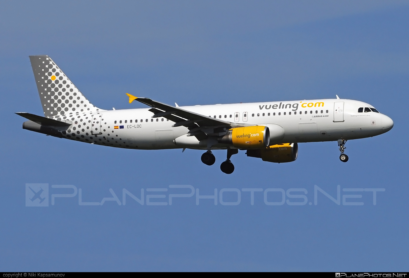 Airbus A320-214 - EC-LOC operated by Vueling Airlines #a320 #a320family #airbus #airbus320 #vueling #vuelingairlines