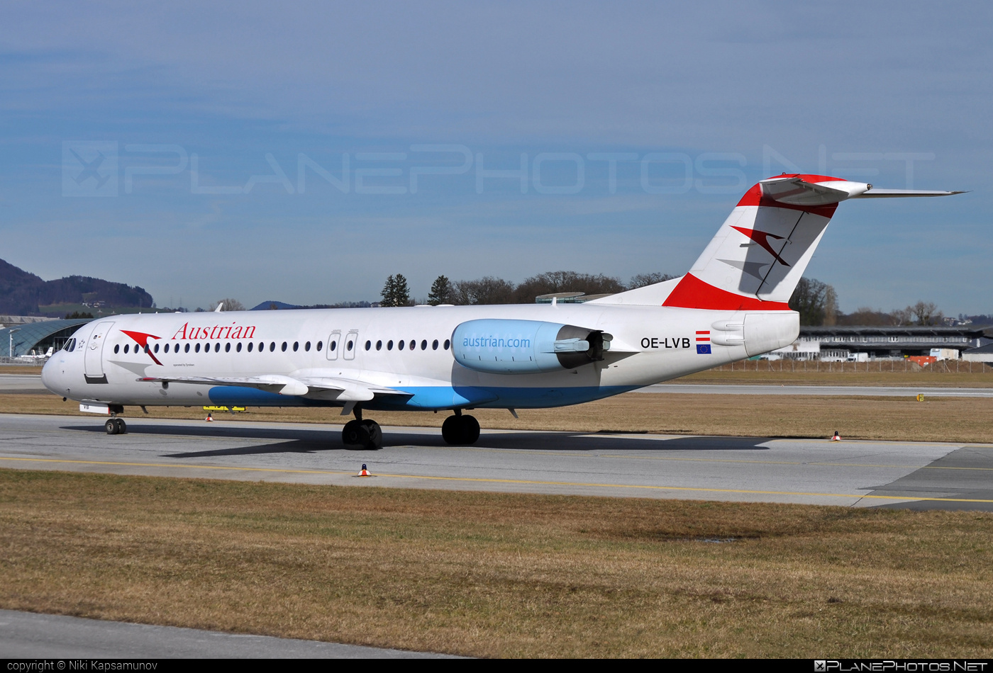 Fokker 100 - OE-LVB operated by Austrian arrows (Tyrolean Airways) #fokker #fokker100