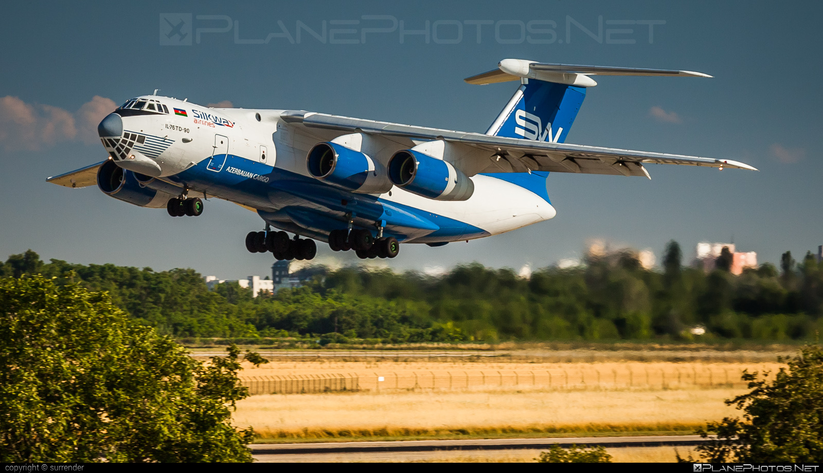 Ilyushin Il-76TD-90 - 4K-AZ100 operated by Silk Way Airlines #il76 #il76td90 #ilyushin #silkwayairlines