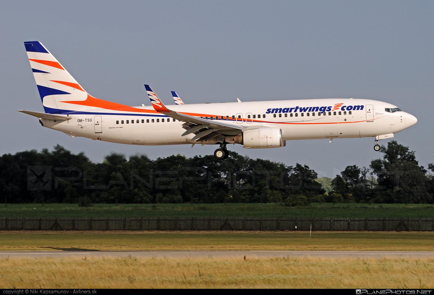 Boeing 737-800 - OM-TSG operated by Smart Wings #b737 #b737nextgen #b737ng #boeing #boeing737 #smartwings