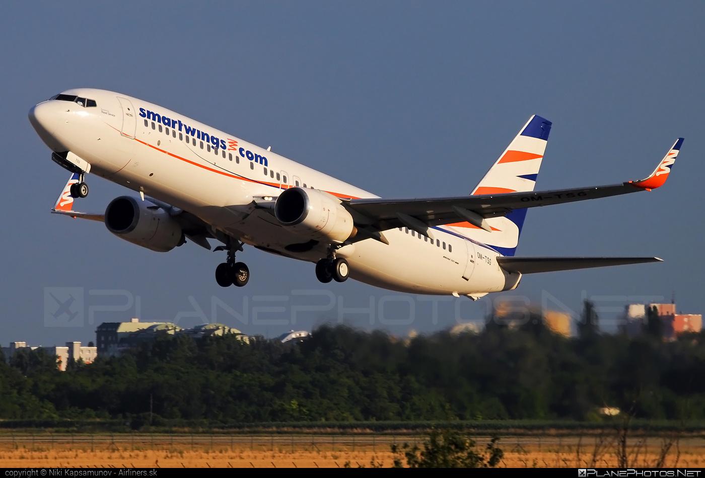Smart Wings Boeing 737-800 - OM-TSG #b737 #b737nextgen #b737ng #boeing #boeing737 #smartwings