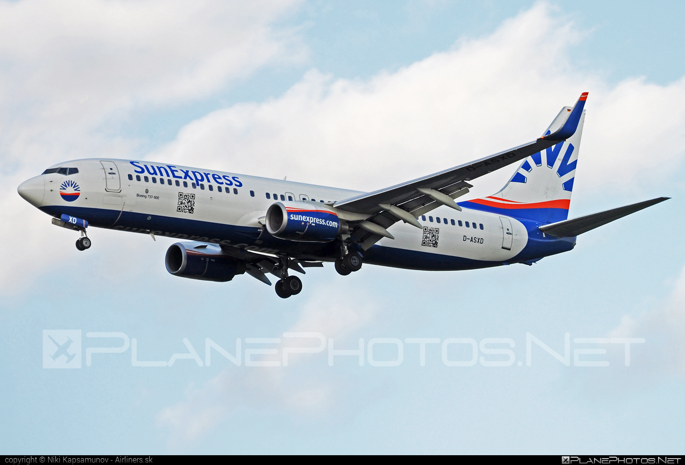 Boeing 737-800 - D-ASXD operated by SunExpress Deutschland #b737 #b737nextgen #b737ng #boeing #boeing737 #sunexpress #sunexpressdeutschland