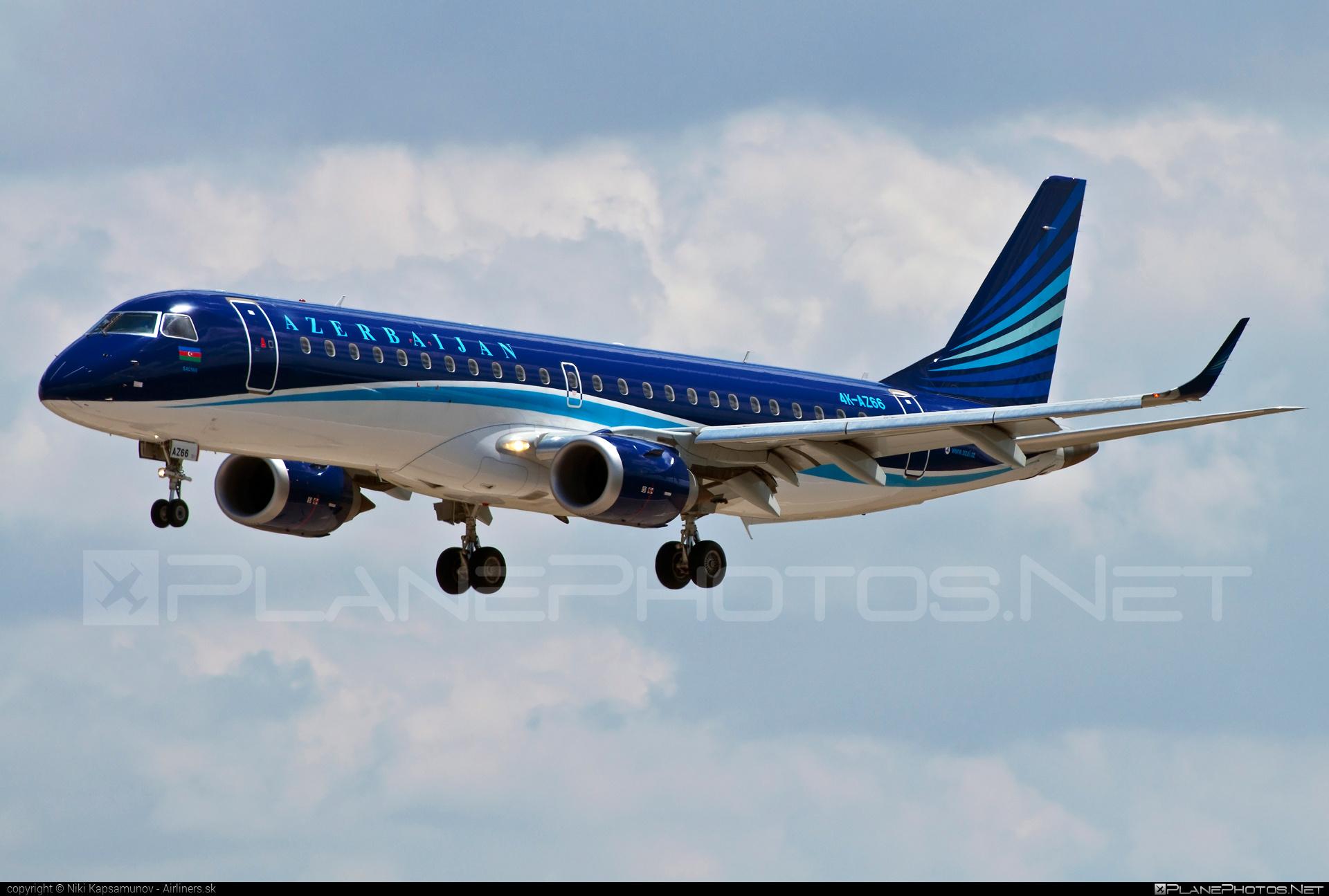 AZAL Azerbaijan Airlines Embraer 190-100IGW - 4K-AZ66 #e190 #embraer #embraer190 #embraer190igw