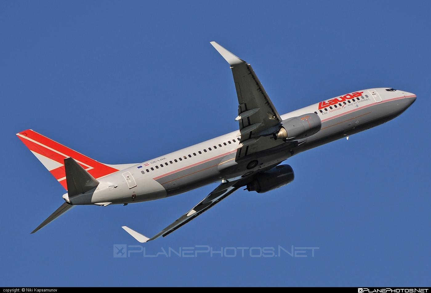 Boeing 737-800 - OE-LNK operated by Lauda Air #b737 #b737nextgen #b737ng #boeing #boeing737