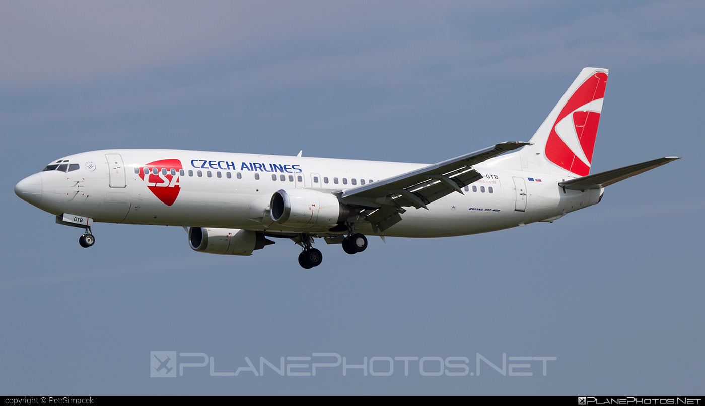 Boeing 737-400 - OM-GTB operated by CSA Czech Airlines #b737 #boeing #boeing737 #csa #czechairlines