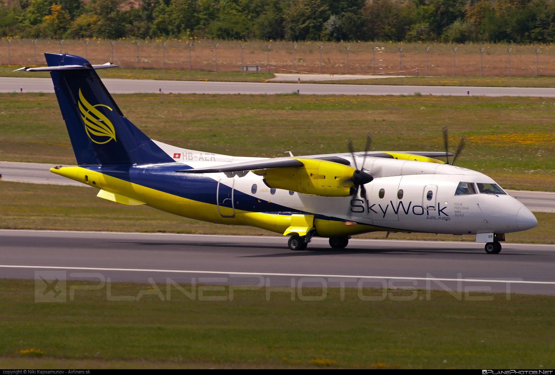 Dornier 328-110 - HB-AER operated by SkyWork Airlines #dornier