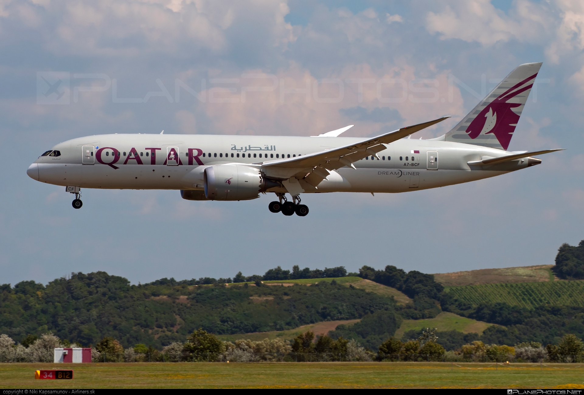 Boeing 787-8 Dreamliner - A7-BCF operated by Qatar Airways #b787 #boeing #boeing787 #dreamliner #qatarairways