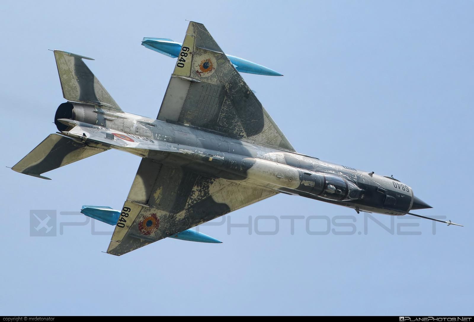 Mikoyan-Gurevich MiG-21MF - 6840 operated by Forţele Aeriene Române (Romanian Air Force) #forteleaerieneromane #mig #mig21 #mig21mf #mikoyangurevich #romanianairforce
