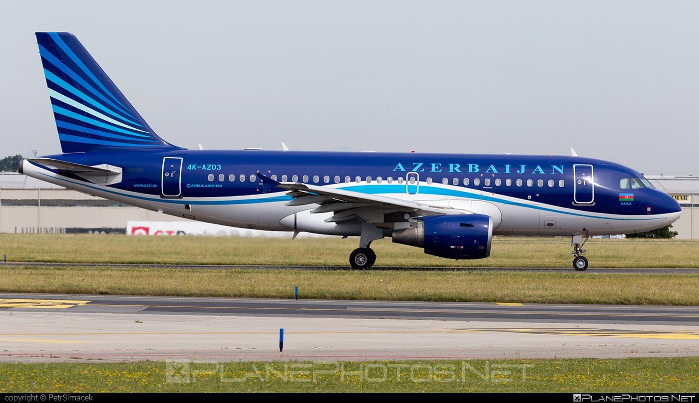 AZAL Azerbaijan Airlines Airbus A319-111 - 4K-AZ03 #a319 #a320family #airbus #airbus319