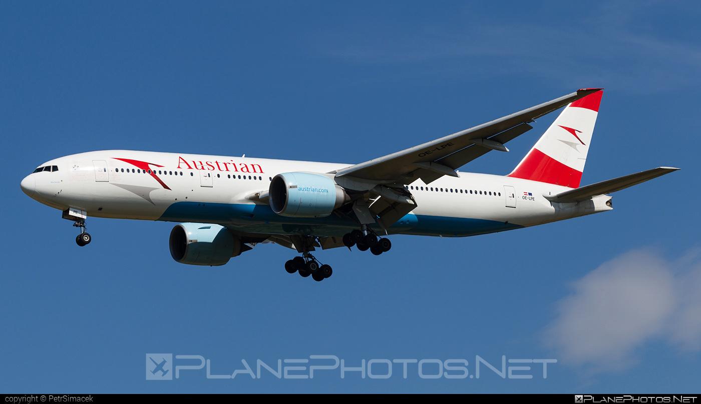 Austrian Airlines Boeing 777-200ER - OE-LPE #b777 #b777er #boeing #boeing777 #tripleseven