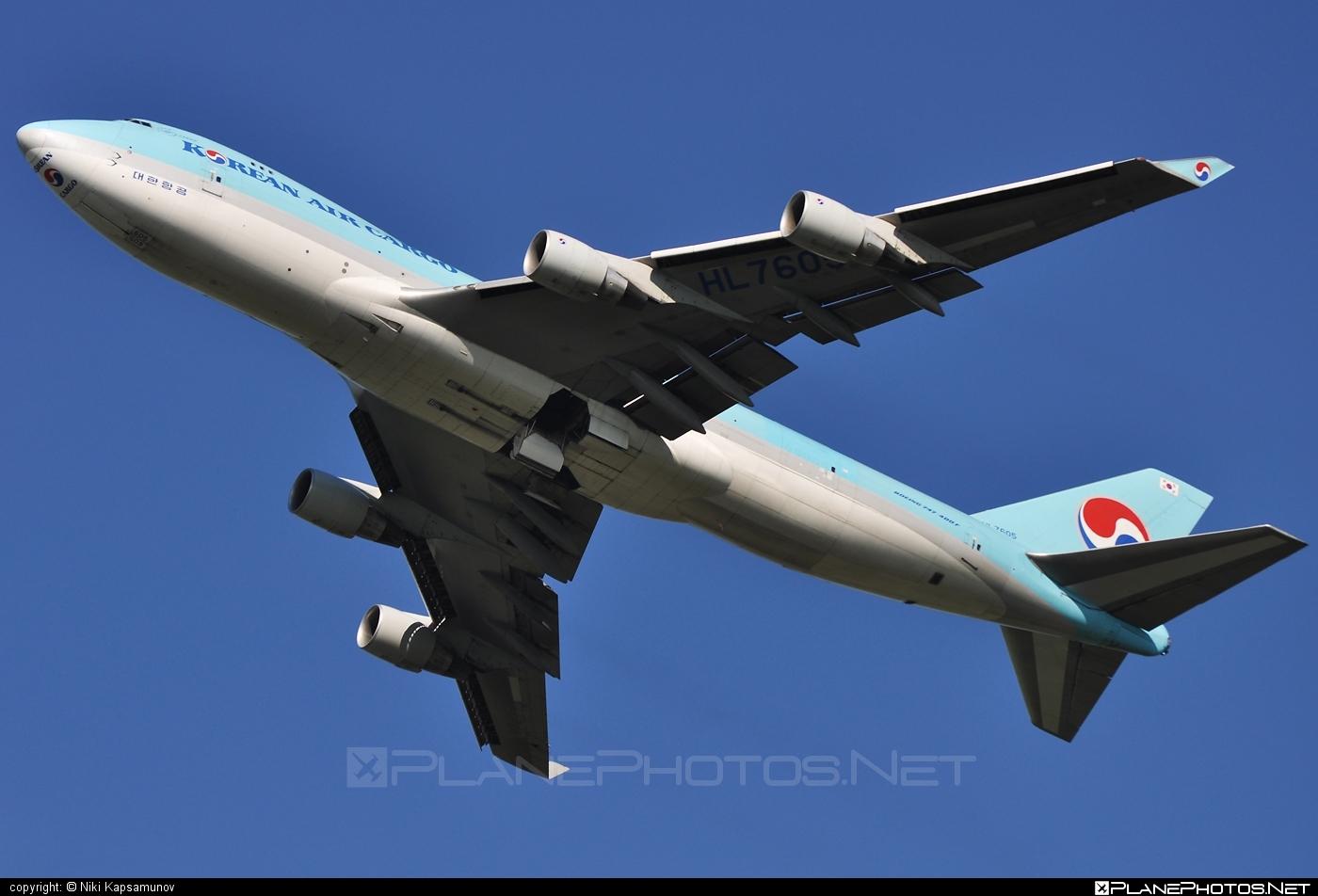 Korean Air Cargo Boeing 747-400ERF - HL7605 #b747 #boeing #jumbo