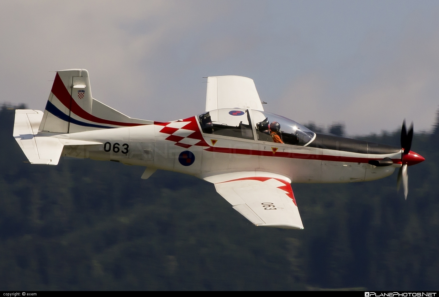 Pilatus PC-9M - 063 operated by Hrvatsko ratno zrakoplovstvo i protuzračna obrana (Croatian Air Force) #pilatus