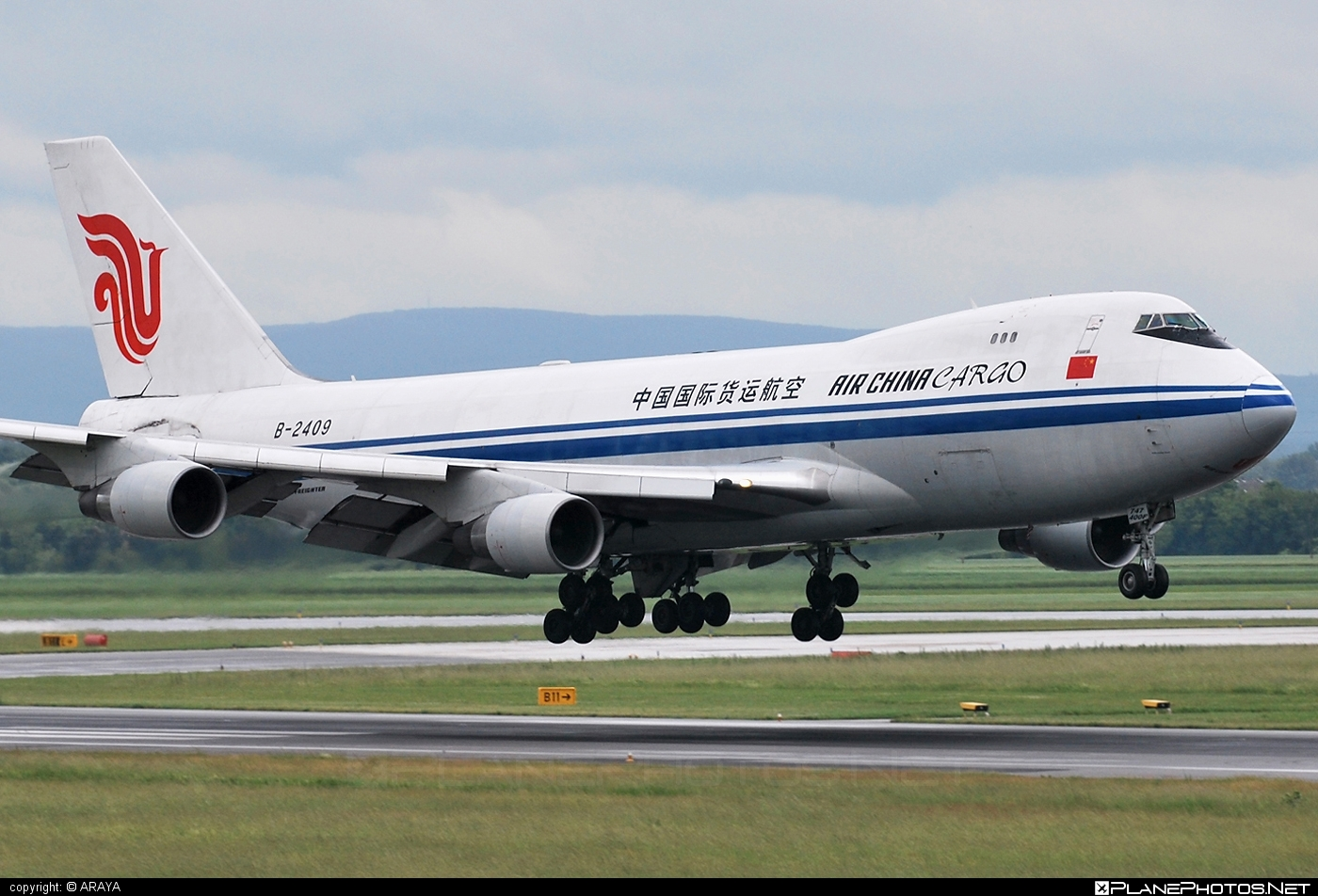 Boeing 747-400F - B-2409 operated by Air China Cargo #airchina #airchinacargo #b747 #boeing #boeing747 #jumbo