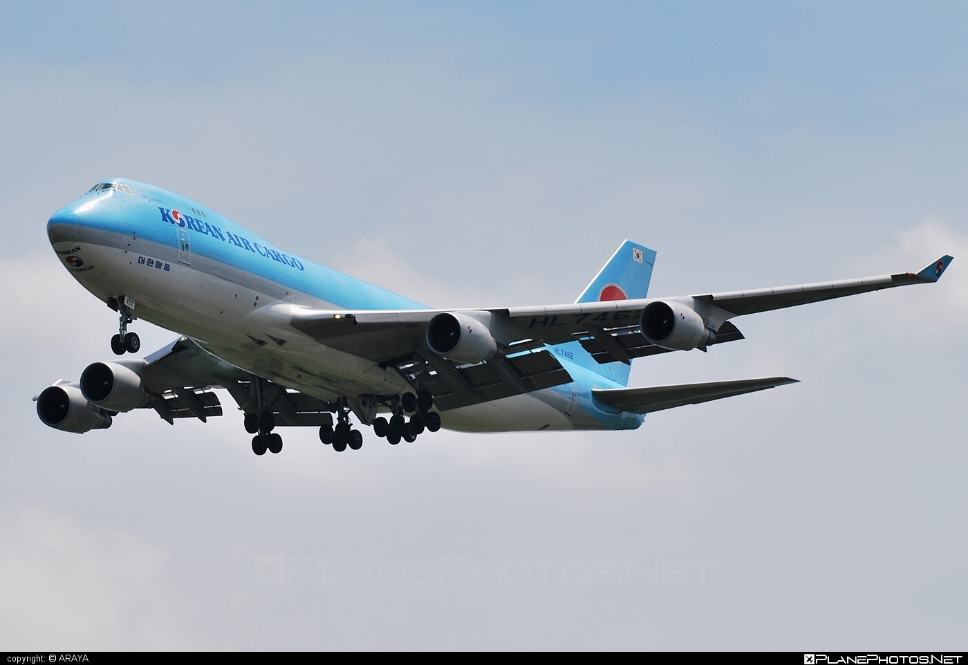 Boeing 747-400F - HL7462 operated by Korean Air Cargo #b747 #boeing #boeing747 #jumbo #koreanair #koreanaircargo
