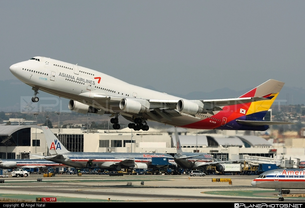 Boeing 747-400 - HL7428 operated by Asiana Airlines #asiana #asianaairlines #b747 #boeing #boeing747 #jumbo