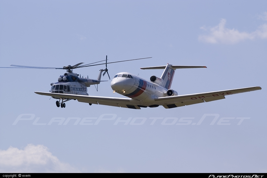Yakovlev Yak-40 - OM-BYE operated by Letecký útvar MV SR (Slovak Government Flying Service) #yak #yak40 #yakovlev