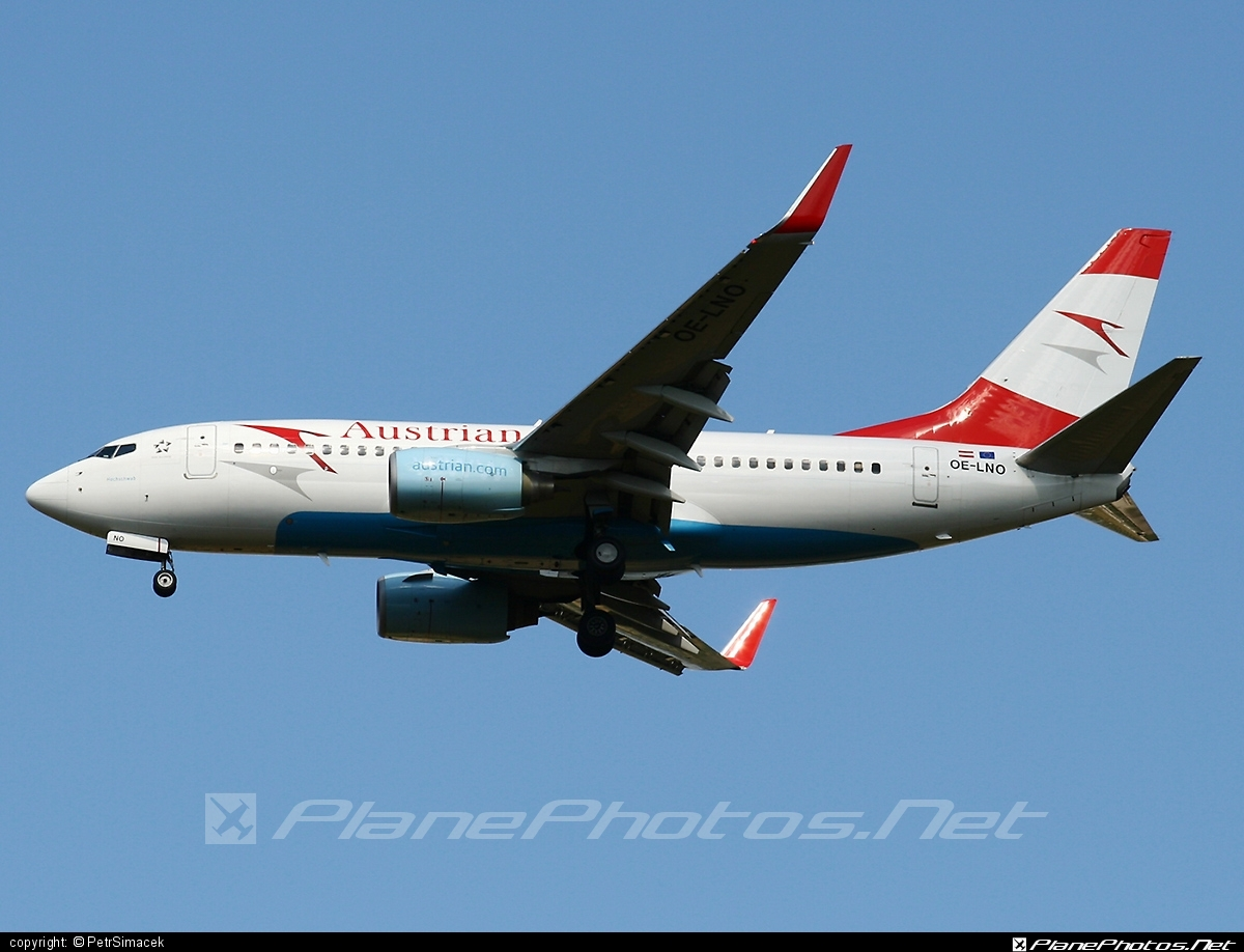Boeing 737-700 - OE-LNO operated by Austrian Airlines #b737 #b737nextgen #b737ng #boeing #boeing737