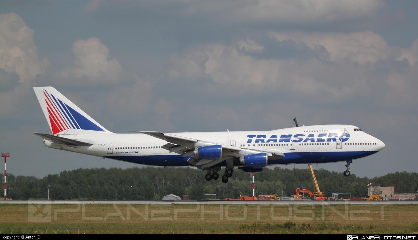 Boeing 747-200B - VP-BQH operated by Transaero Airlines #b747 #b747b #boeing #boeing747 #jumbo #transaero #transaeroairlines