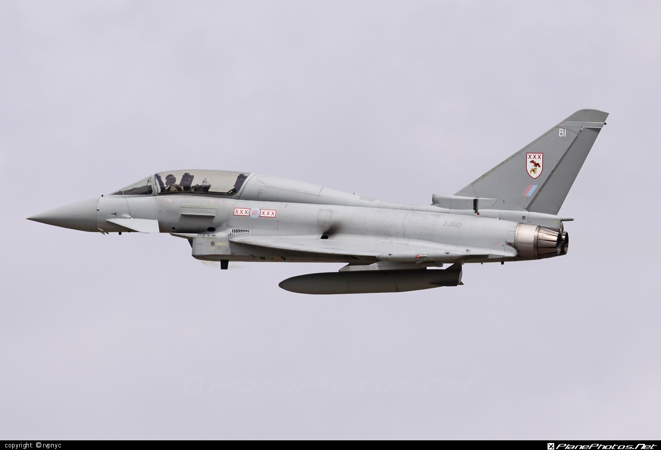Eurofighter Typhoon T.1 - ZJ810 operated by Royal Air Force (RAF) #eurofighter #raf #royalairforce #typhoon