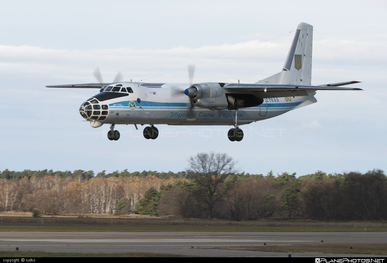 Antonov An-30B - 80 operated by Povitryani Syly Ukrayiny (Ukrainian Air Force) #an30 #an30b #antonov #antonov30 #povitryanisylyukrayiny #ukrainianairforce