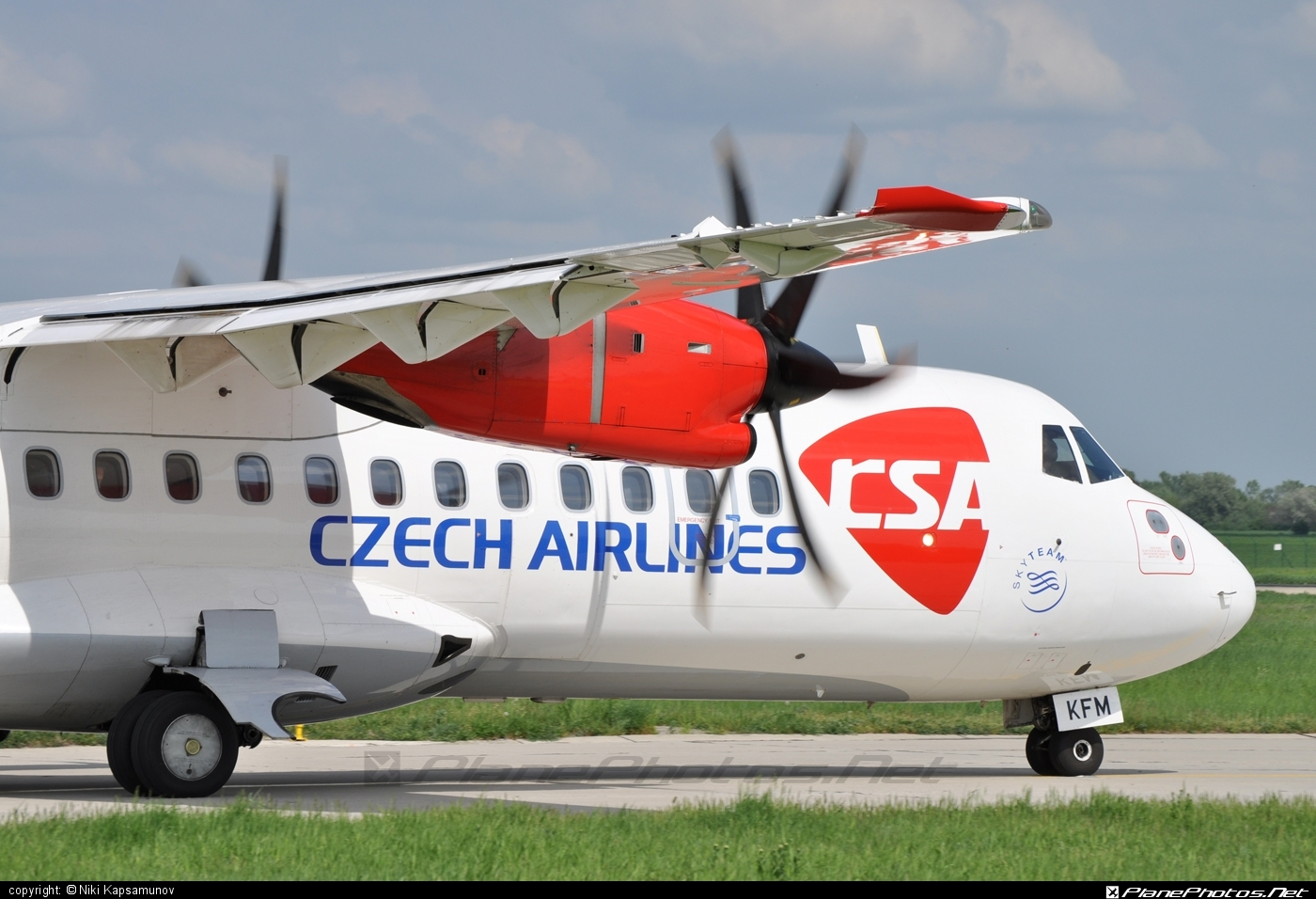ATR 42-500 - OK-KFM operated by CSA Czech Airlines #atr #atr42 #atr42500 #csa #czechairlines