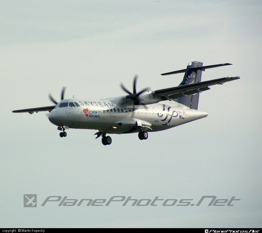 ATR 42-500 - OK-JFL operated by CSA Czech Airlines #atr #atr42 #atr42500 #csa #czechairlines #skyteam